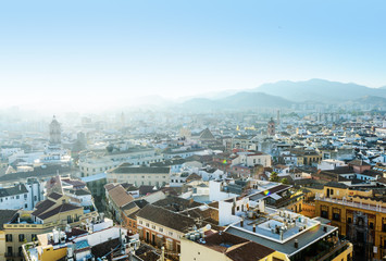 Rooftops from the sky, Málaga, Andalusia, Spain