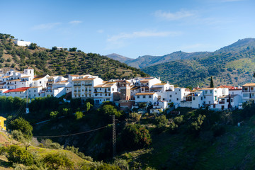White village of Totalán, Andalusia, Spain