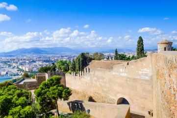 Castillo de Gibralfaro, Málaga, Andalusia, Spain