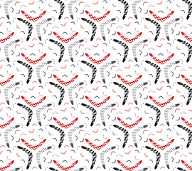 "Seamless decorative Boomerang pattern with chevron. Boomerang symbolizes ""full circle""/""karma""."