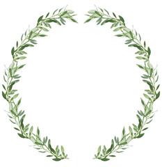 Photo sur Toile Oliviers Couronne de feuilles d'olivier