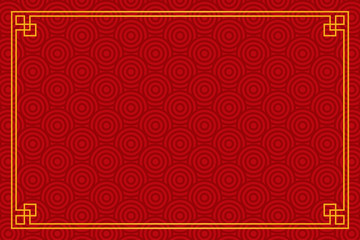 Vector red background with abstract pattern (asian style)