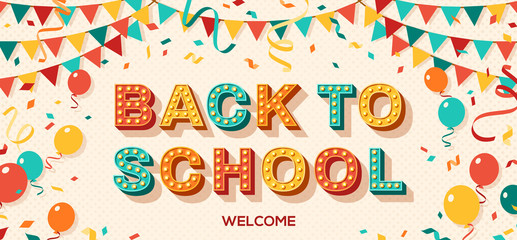 Back to school card typography