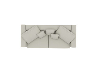 Grey sofa top view path selection