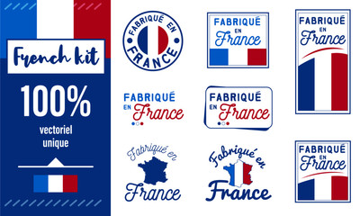 Logo / Label / sticker / Fabriqué en France Fotomurales