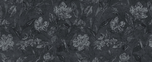 abstract floral black background