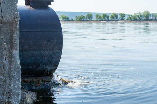 Discharge of toxic or contaminated water into a river or lake.