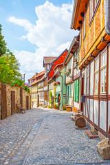 Wall Mural - Old street in Quedlinburg in Germany