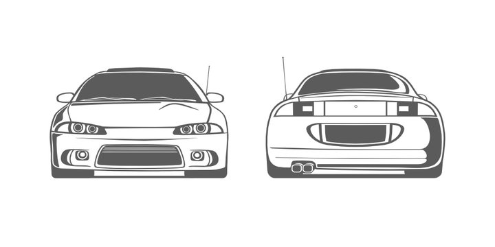 Mitsubishi Eclipse 2g coupe car