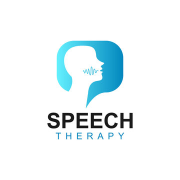 Speech Therapy Logo Design with Bubble Chat