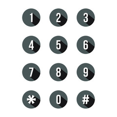 keypad number icon design vector