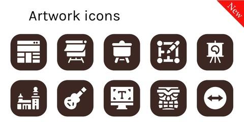 artwork icon set