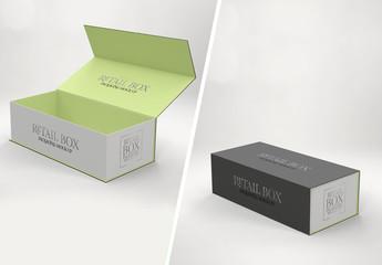 Narrow Folding Box Mockup