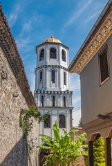 Foto op Canvas Sprookjeswereld The Church of St Constantine and Helena in the old town of Plovdiv, Bulgaria. Built in 337 at the sight of an ancient pagan temple in the acropolis