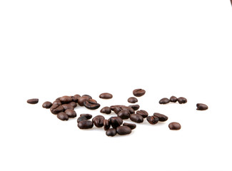 Wall Mural - Coffee Beans Isolated On White