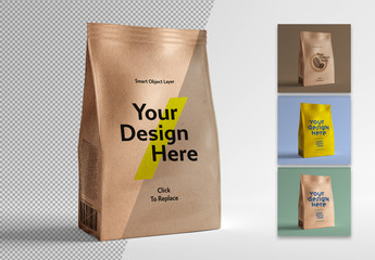 Packaging Design Pouch Mockup