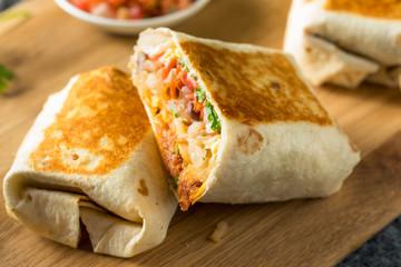 Homemade Chorizo Breakfast Burritos