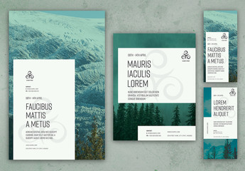 Poster Layout Set with Green Tinting