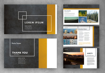 Modern Presentation Layout with Yellow Accents