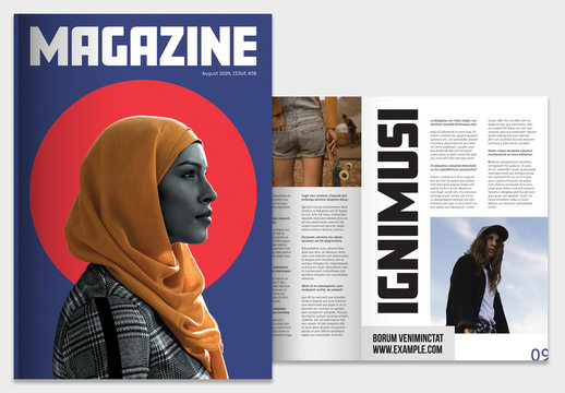 Colorful Magazine with Bold Typography Layout