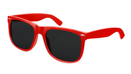 Red Sunglasses Isolated