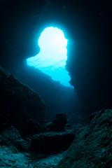 Wall Mural - Underwater cave