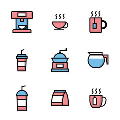 set of coffee shop icons