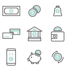 set of money finance icons