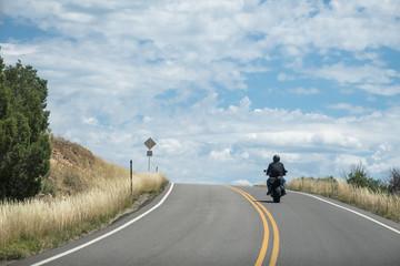 Motocycle Rider landscape -  Highway 145, Colorado