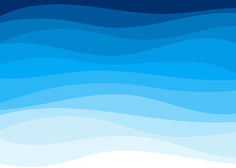 Abstract blue wave shapes concept background