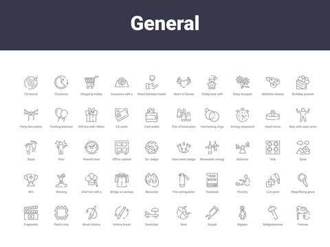 general outline icons