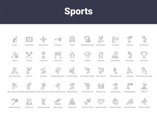 sports outline icons