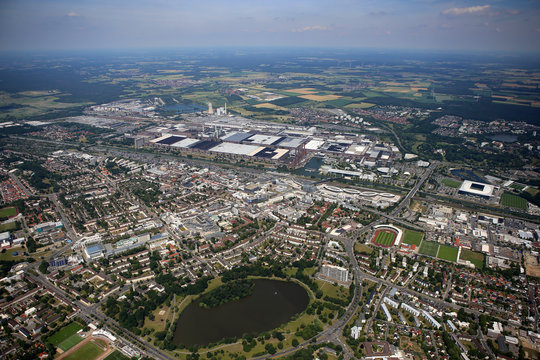 Luftaufnahme Stadt Wolfsburg