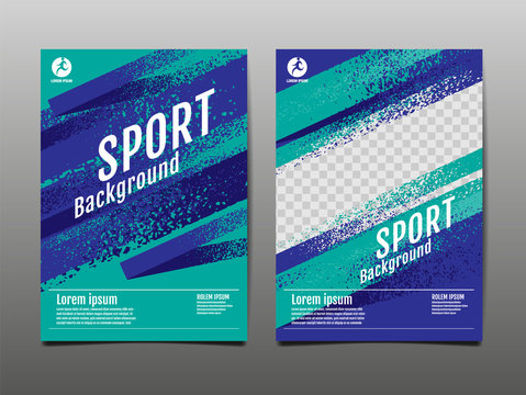 Layout template Design, Sport Background, Dynamic Poster, Brush Speed Banner, Vector Illustration.
