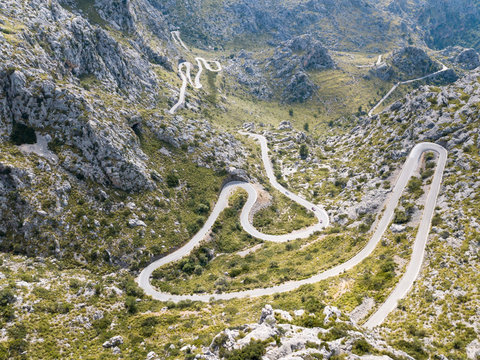 The road to the Bay of Sa Colobra in Mallorca.