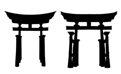 Japanese Gate Silhouettes