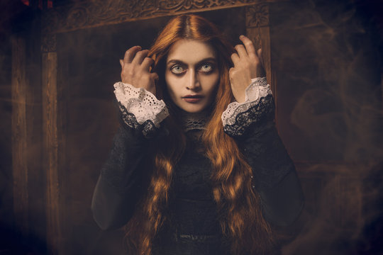 redhead scary witch