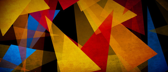 illustration of triangles and angled shapes,  colorful abstract background with geometric elements,...