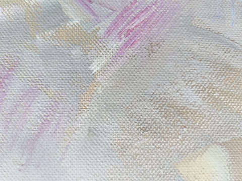 Light grey abstract oil painting on canvas. Simple texture background.