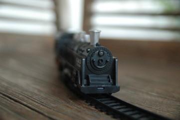 children toy train in plastic - rail - track