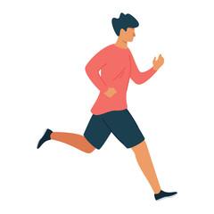 Fototapeta Running man flat vector illustration obraz