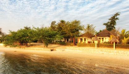 Hotel resort on the coast of the Atlantic Ocean in Gambia. Africa