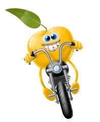 Fototapete - mela in moto