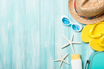Summer holiday and travel background