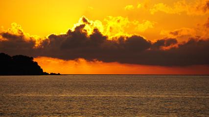 Fototapeta Zachód słońca, Sycylia, Włochy obraz