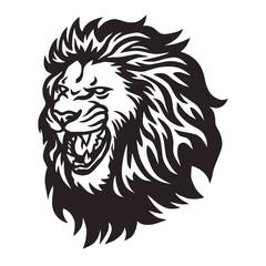 Fototapeta Lion Head Roaring Logo Vector Icon