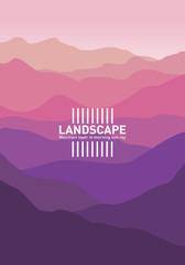 Fotobehang Aubergine Abstract landscape. Minimalist style. Vector banners landscape illustration - flat design