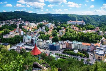Karlsbad Stadt Kurort Gebirge Wald