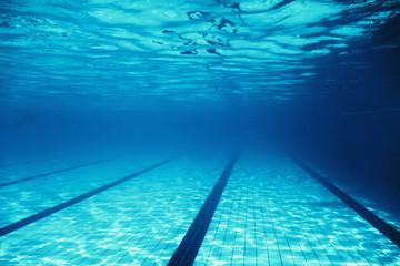 Underwater Empty Swimming Pool
