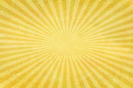 Yellow sunburst grunge background